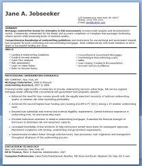 Mortgage Underwriter Resume Examples Engineering Resume