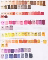 Copic Swatch Chart Copic Sketch Marker Colour Chart Quqco Art Blog