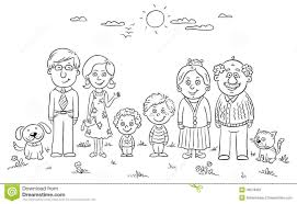 Small Picture Clipart Of Family Members Black And White ClipartFest Clipart