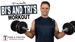 15 minute arm workout with dumbbells for biceps and triceps