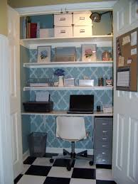 home office in a closet. Elegant Closet Home Office Desk Makeover In A S