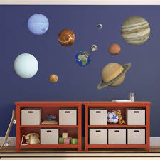 Solar System Bedroom Decor Planet Wall Decals 9 Planets Plus Moon Kids Educational Solar