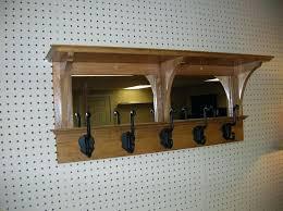 Wall Mounted Coat Rack Mirror Stunning Wall Mounted Coat Rack With Shelf And Mirror Clothing Hooks Coat