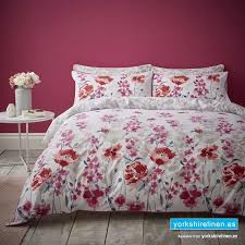 catherine lansfield fox and brooke meadow red duvet cover set yorkshire linen warehouse mijas marbella