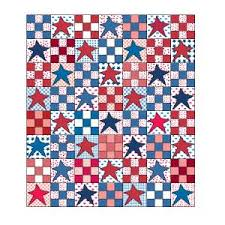Patriotic Quilt Patterns Delectable Stars For Sydney FREE Patriotic Star Queen Size Quilt Pattern The