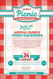 Company Picnic Template Vector Illustration Of A Family Picnic Celebration Invitation Design