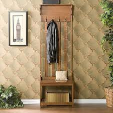Hall Stand Entryway Coat Rack And Storage Bench Brown Entryway Full Storage Bench Hall Tree Coat Rack Stand Home 29