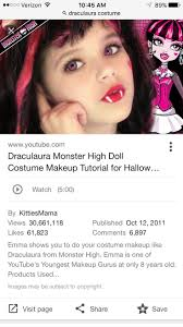 you makeup tutorial for or co draculaura monster high draculaura