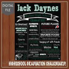 Highschool Graduation Chalkboard Sign Digital High School