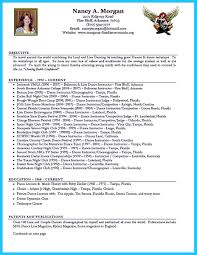 Dance Resume Layout Free Resume Example And Writing Download