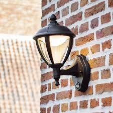 unite up pir 9w lantern exterior led wall light in black