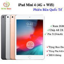 Máy Tính Bảng iPad Mini 4 (4G Wifi) 64Gb/32Gb/16Gb - Zin Đẹp Như Mới Like  New - Ram 2Gb /Chip A8 2X /Màn đẹp Siêu Nhẹ tại Quảng Ninh