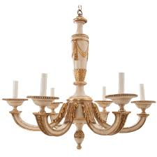 french early 20th century painted gold gilt chandelier fireside antiques