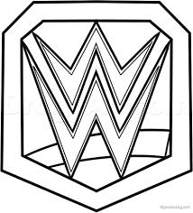 Small Picture Wwe Logo Image Gallery Wwe Printable Coloring Pages at Best All