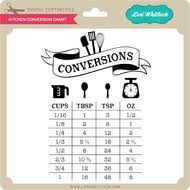 Kitchen Conversion Chart 2 Lori Whitlocks Svg Shop