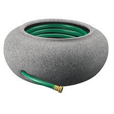 garden hose pot with lid. Black Granite Finish Plastic Garden Hose Pot With Lid