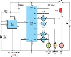 traffic lights for model cars or model railways circuit schematic traffic lights for model cars or model railways circuit schematic