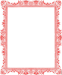 Word Backgrounds Decorative Backgrounds For Word Documents Red Border From Page 27
