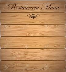 Restaurant Menu Over Wooden Background Vector Illustration
