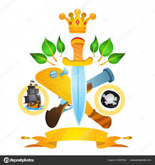 пираты мушкет и кинжал векторное изображение Filkusto 165927504