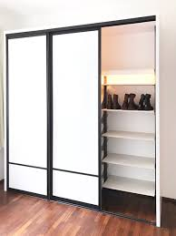 pole system wardrobe with white glass sliding doors no repeat center top