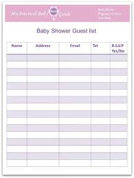 Free Printable Baby Shower Guest List Inspiration How To Plan A Baby Shower My Practical Baby Shower Guide Baby