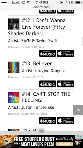Believer Is Climbing Back Up The Us Itunes Chart What
