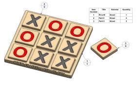 Wooden Board Games Plans tac toe game plan 70