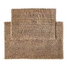 home and furniture astounding brown bathroom rugs in chocolate from bed bath beyond brown
