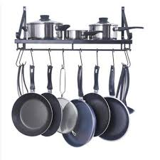kitchen wall mounted pot pan rack