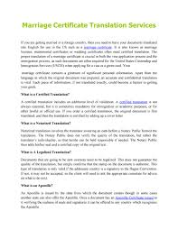 Marriage Certificate Translation Services By Usa Translate Issuu