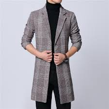 mens long coat winter woolen melton overcoat plaid gray two ons full lining long sleeve m 6xl pocket 18novw4 drop wool blends