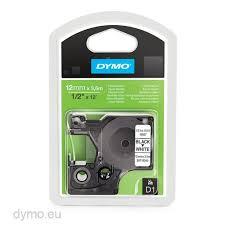 Dymo S0718040 16957 D1 Flexible <b>Nylon</b> Tape 12mm x 3,5m <b>Black</b> ...