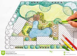 landscape architecture blueprints. Modren Blueprints Landscape Architect Design Backyard Plan For Villa Intended Architecture Blueprints S