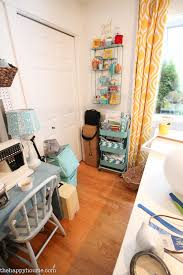 Living Room Craft How To Organize A Craft Room Work Space The Happy Housie