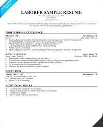 Entry Level Construction Resumes Sample Resume For Laborer With No Experience General Labor