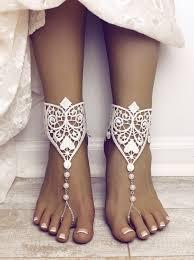 Eden Barefoot Sandals Destination Wedding Shoes Lace Sandals   Etsy