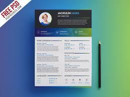 Creative Resume Template Free Psd Psdfreebies Com