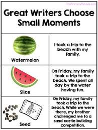 Small Moment Watermelon Anchor Chart Small Moments Writing Anchor Charts