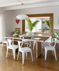 modern dining room table decorating ideas. large size of dining room: rectangle long solid wood table 6 white plastic chairs for modern room decorating ideas a