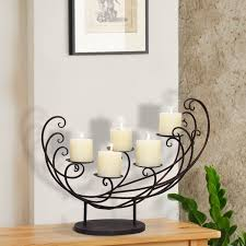 Adeco Decorative Iron Tabletop 4-Candle Pillar Scoop Sleigh Design Candle  Holder - Free Shipping Today - Overstock.com - 17648574