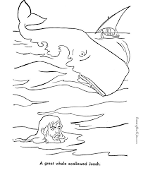 Jonah Bible Coloring Pages Free Printable Jonah And The Whale