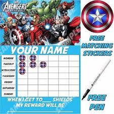 Marvel Reward Chart Printable Overig
