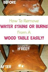 remove water stains from a wood table