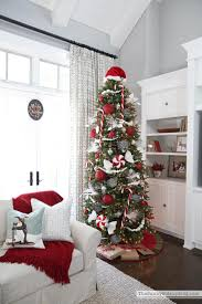christmas trees decorated in red and silver. Fine Silver Redsilverwhitechristmastree To Christmas Trees Decorated In Red And Silver R