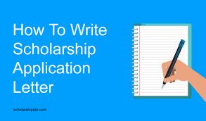 good scholarship application letter