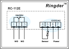 ringder rc 112e 12v dc ac10a cool heat on off switch universal rc 112e 12v10a wiring diagram
