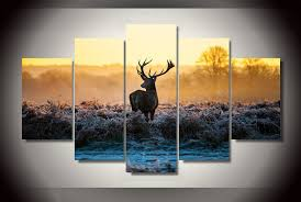 home office artwork. Deer Animal Africa 5 Panels Wall Art Canvas Paintings Decorations For Home  Office Artwork Giclee Decor - Prints HD Home Office Artwork T