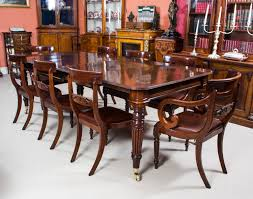 antique dining table and chairs antique regency gany dining table 8 regency chairs