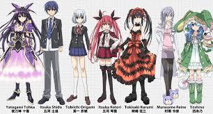 Tohka - Shido - Origami - Katori - Karumi - Reine - Yoshino